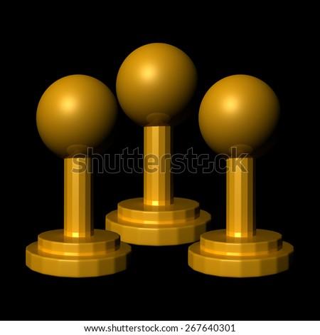 Trophy Achievements - stock photo