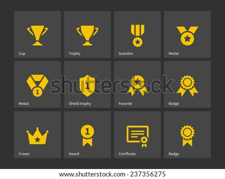 Trophy and awards icons. - stock photo
