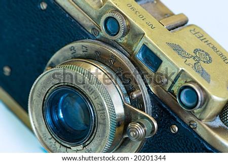 Trophy camera - stock photo