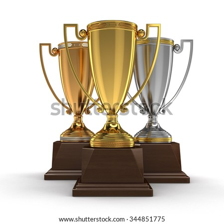 Trophy Cups (clipping path included)