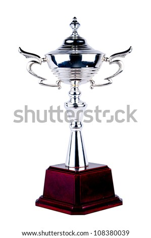 Trophy isolated with white background. Winner award of Champion