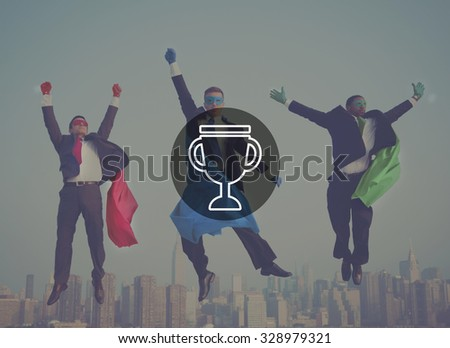 Trophy Reward Prize VIctory Success Achievement Concept - stock photo