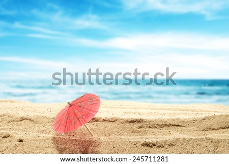 tropic background and sand  - stock photo