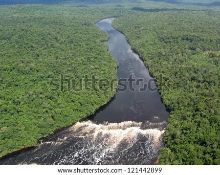 Tropical Amazon River - stock photo