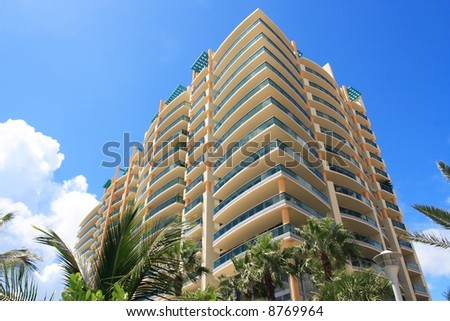 Tropical Apartment Building - stock photo
