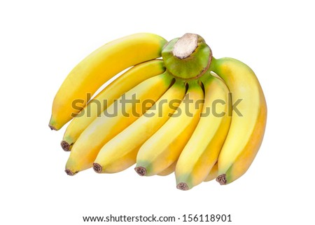 Tropical banana on isolated white background