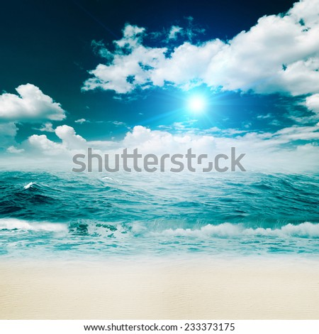 Tropical beach, abstract environmental backgrounds for your design - stock photo