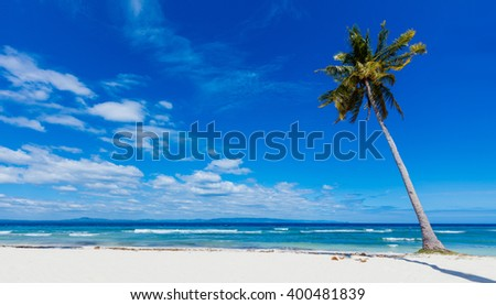 Tropical beach and sea - stock photo