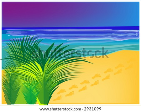 tropical beach background, also available as a vector - stock photo