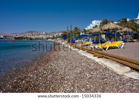 Tropical Beach (Eilat) - stock photo