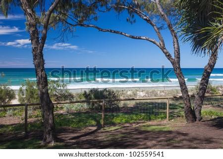 Tropical beach, Gold Coast, Queensland, Australia - stock photo