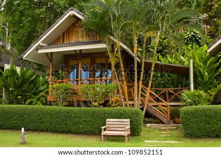 Stock images similar to id 101442400 tropical beach for Small tropical house