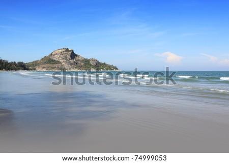 tropical beach, hua hin,thailand - stock photo