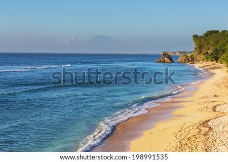 Tropical beach in Bali - stock photo
