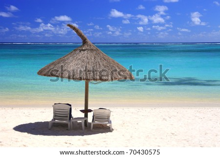 tropical beach in dream island - stock photo