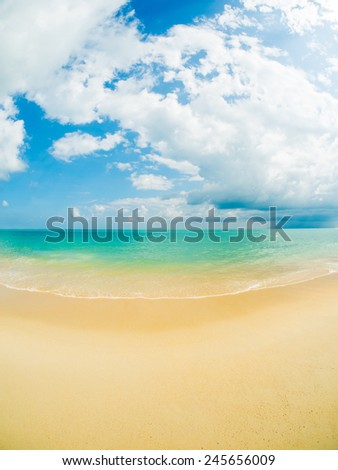 Tropical beach in Koh Samui Thailand