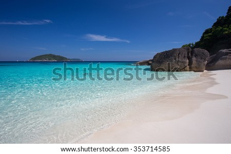 Tropical beach in Similan island, Phangga, Thailand