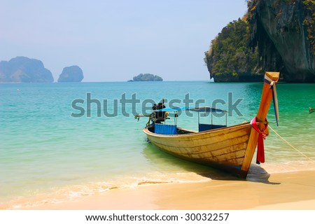 tropical beach in south of Thailand