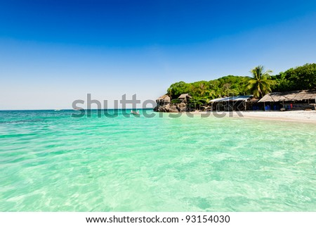 Tropical beach in summer, Andaman Sea, Thailand - stock photo