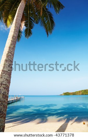 Tropical beach, Kood island, Thailand - stock photo