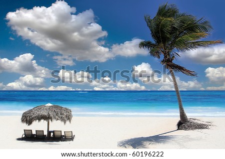 Tropical Beach Landscape, Ko Chang island, Thailand - stock photo