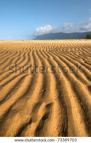 tropical beach north of Cairns, Queensland, Australia