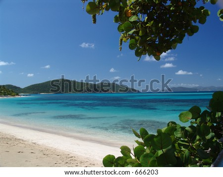Tropical Beach on Virgin Gorda, British Virgin Islands