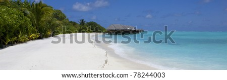 Tropical beach panoramic view.