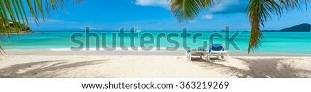 Tropical beach paradise - stock photo