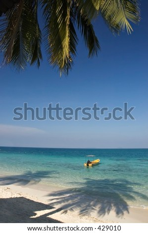 Tropical beach paradise in Perhentian Island, Malaysia - stock photo