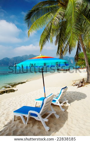Tropical beach, Phi-Phi Islands, Andaman Sea, Thailand