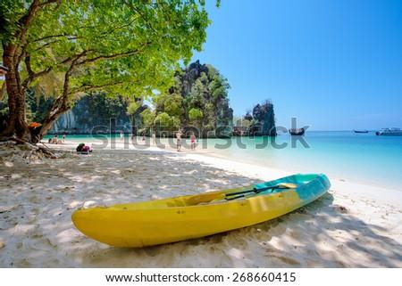 Tropical beach scenery, Andaman sea, Thailand - stock photo