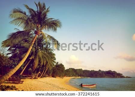 Tropical beach Seascape Tropical Island Concept - stock photo