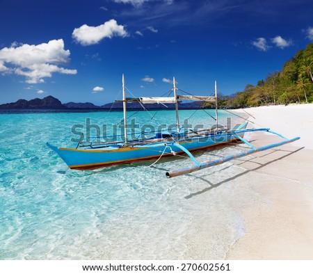 Tropical beach, South China See, El-Nido, Philippines - stock photo