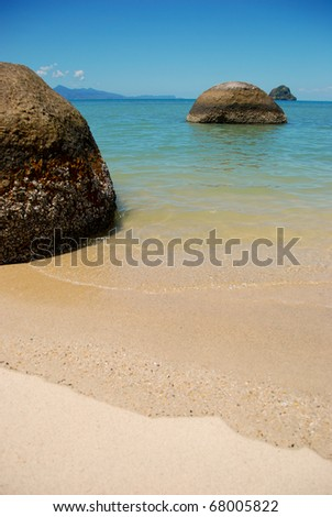 tropical beach, Thai beach - stock photo