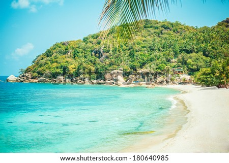 tropical beach - thailand, koh samui - stock photo