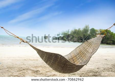 tropical beach view - stock photo