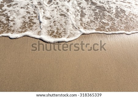 Tropical beach wave close with space for text, Bali, Indonesia - stock photo