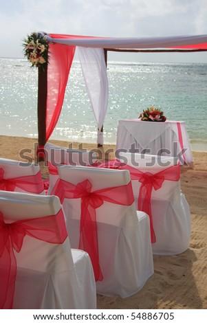Tropical beach wedding. - stock photo