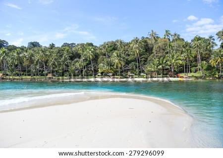 Tropical beautiful beach on the island Koh Kood, Thailand - stock photo