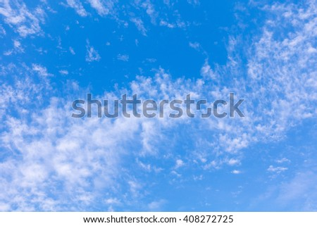 Tropical  Blue Sky Cloud, abstrace cloud Background, skyscape - stock photo