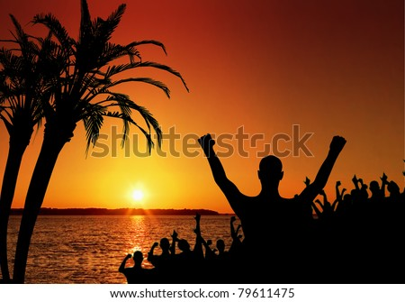Tropical celebration and beach party concept, perfect for spring break and tropical getaway projects.