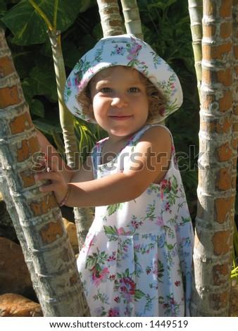 Tropical Child Portrait 1 - stock photo