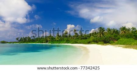 Tropical Coastline - stock photo