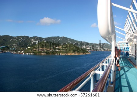 Tropical Cruise Vacation - stock photo