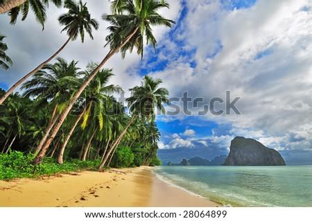 tropical dream beach getaway - stock photo
