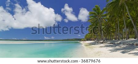 Tropical Dream Lagoon Paradise of the South Pacific in Bora Bora - stock photo