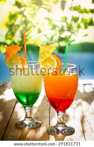 Tropical Drinks  - stock photo