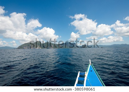 Tropical El Nido in Palawan, Philippines - stock photo