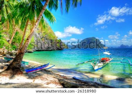 tropical escape - stock photo